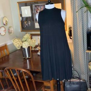 Anthro Bordeaux black 2 layered dress ~ SZ S